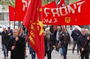 Röd Front-demonstration Lysekil 2019