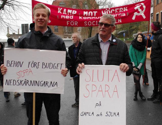 Arvid Gustafsson och Yngve Berlin talare på Röd Front Lysekil