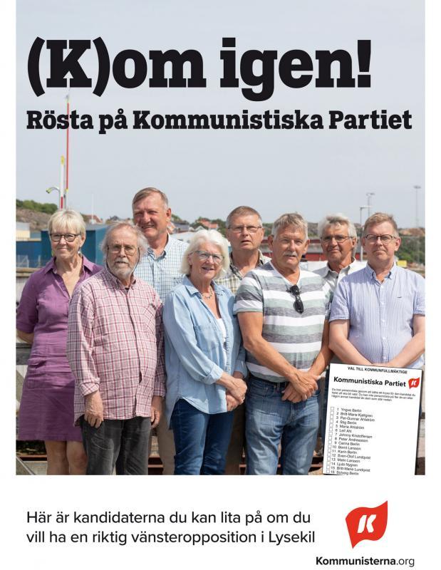 Valflygblad Kommunistiska Partiet Lysekil